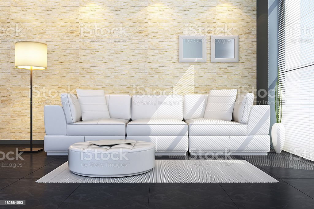 Penthouse Living Room royalty-free stock photo