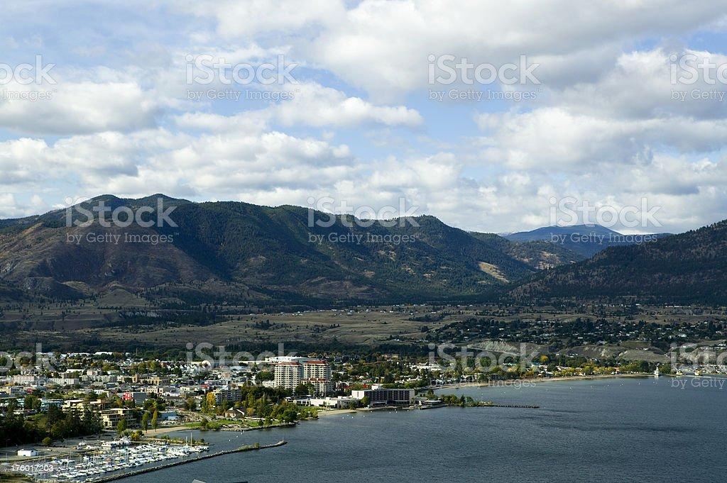 penticton city okanagan valley british columbia stock photo