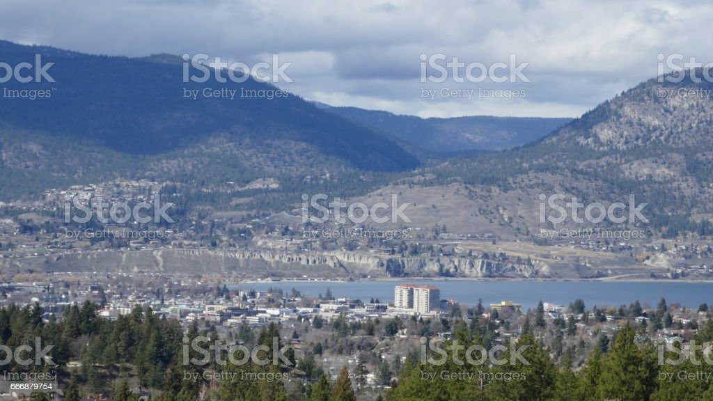 Penticton in Okanagan Valley stock photo