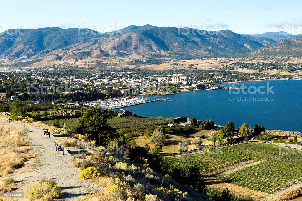 Penticton Okanagan Valley British Columbia Canada stock photo
