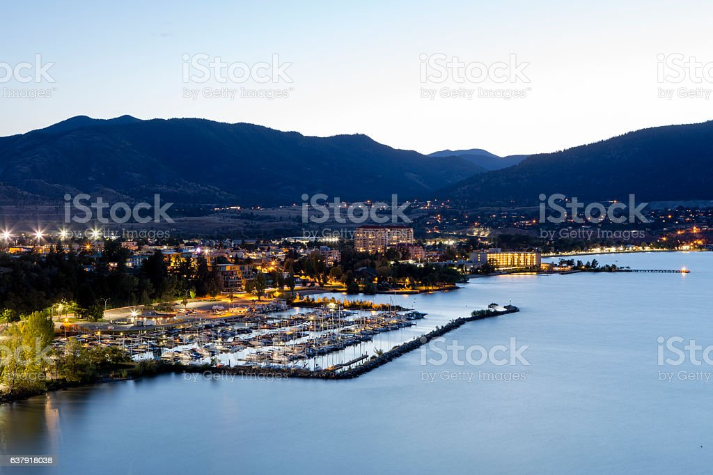 Penticton Skyline Okanagan Lake stock photo