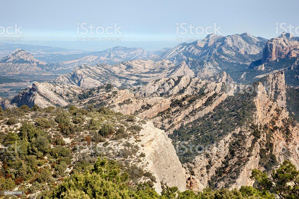 Penya Galera Peak stock photo