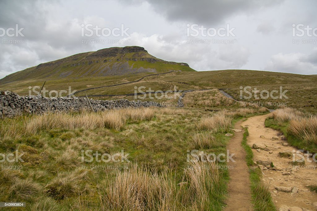 Pen-y-Ghent hill stock photo