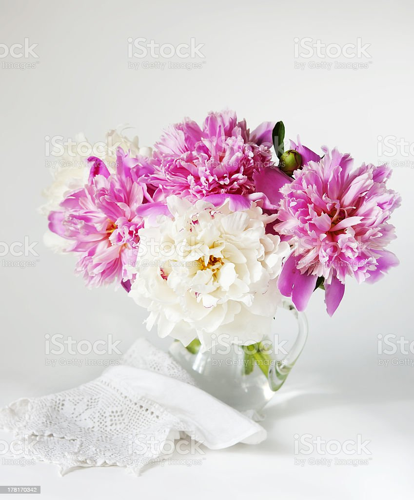 peonies bouquet royalty-free stock photo