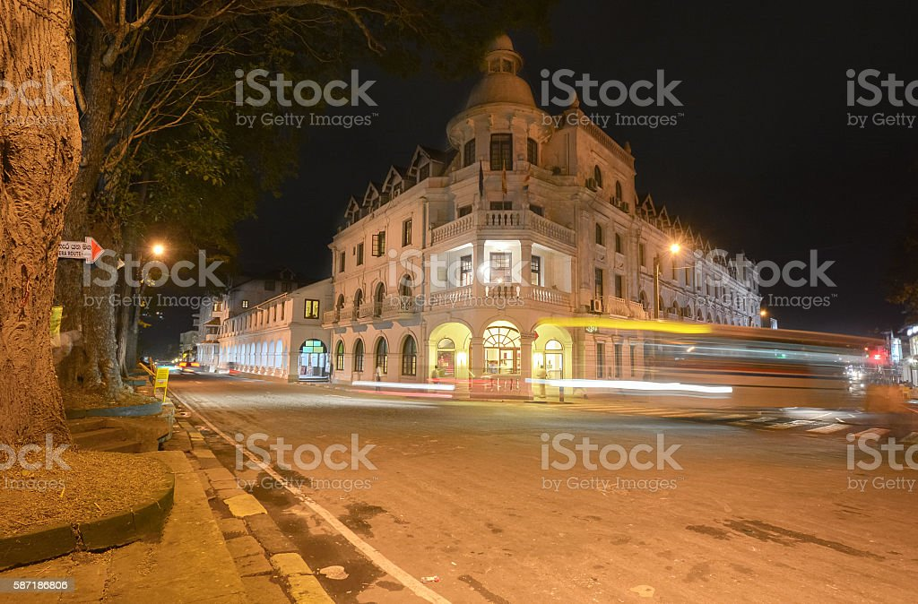 People activities and Kandy city street view stock photo