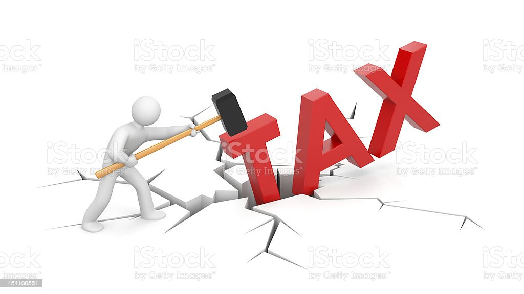 People against taxes royalty-free stock photo