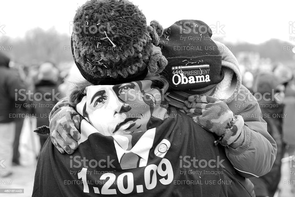 People and Barack Obama royalty-free stock photo