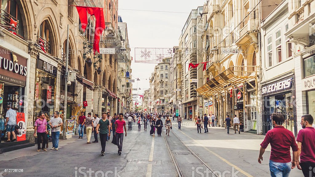 People and city of Istanbul. stock photo