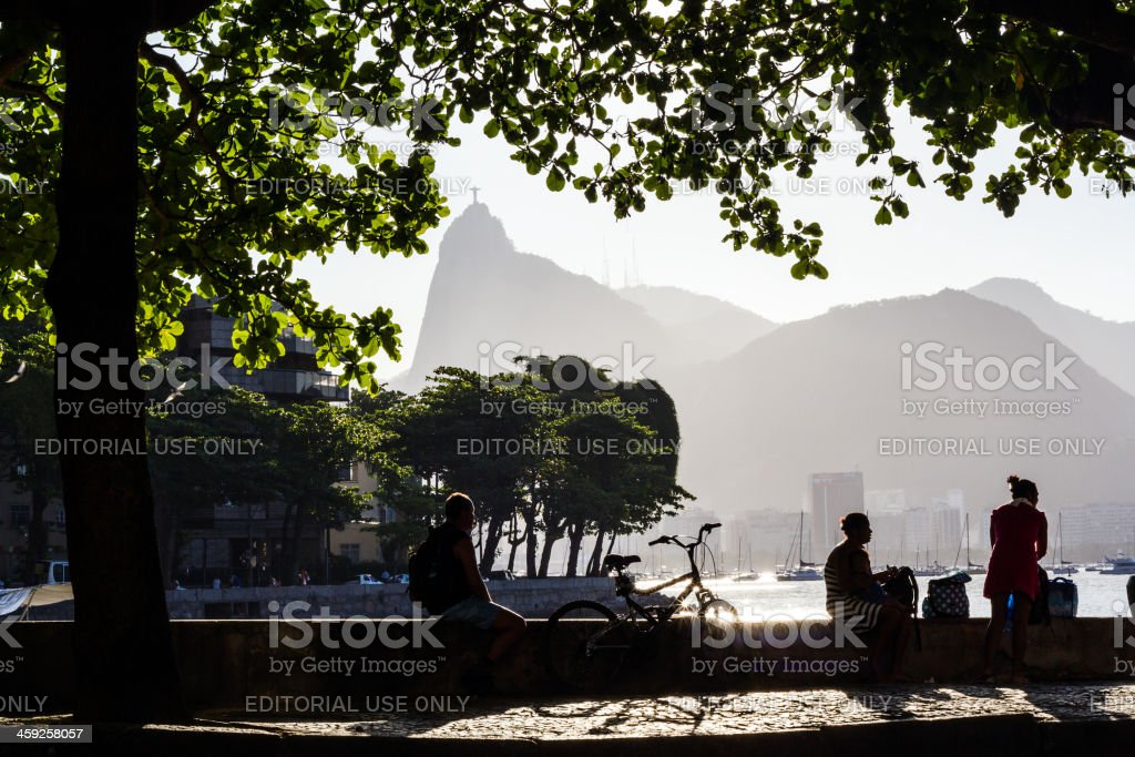 People and Corcovado stock photo