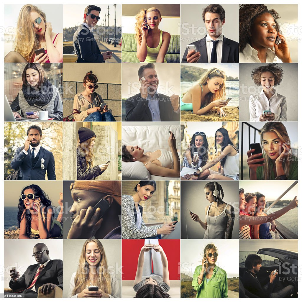 People and Mobile Phones stock photo