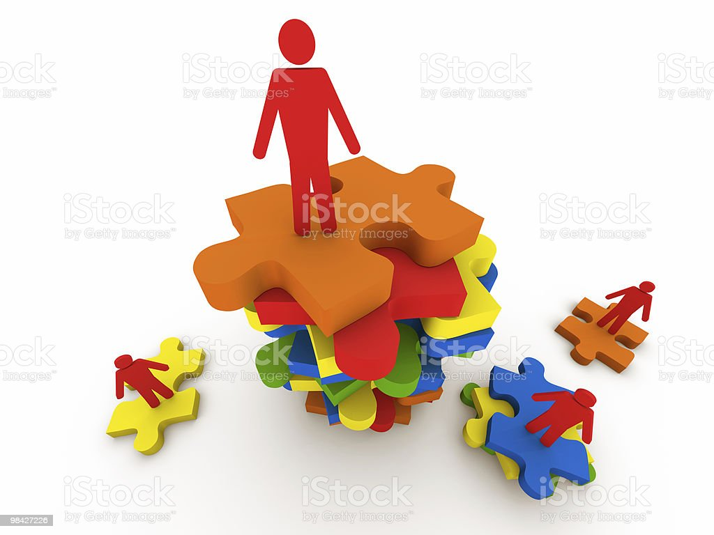 People and Puzzle royalty-free stock photo