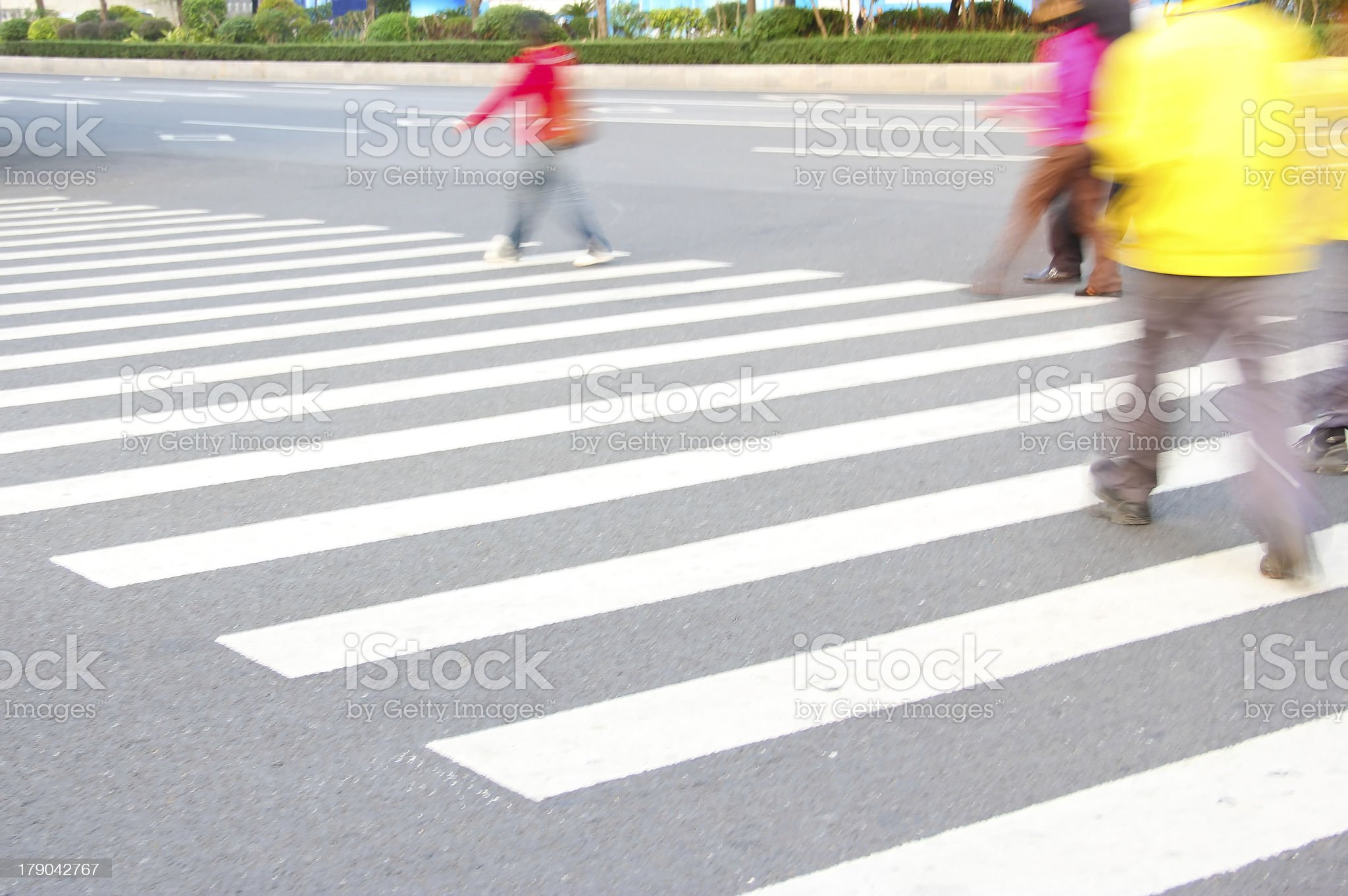 people and zebra crossing royalty-free stock photo