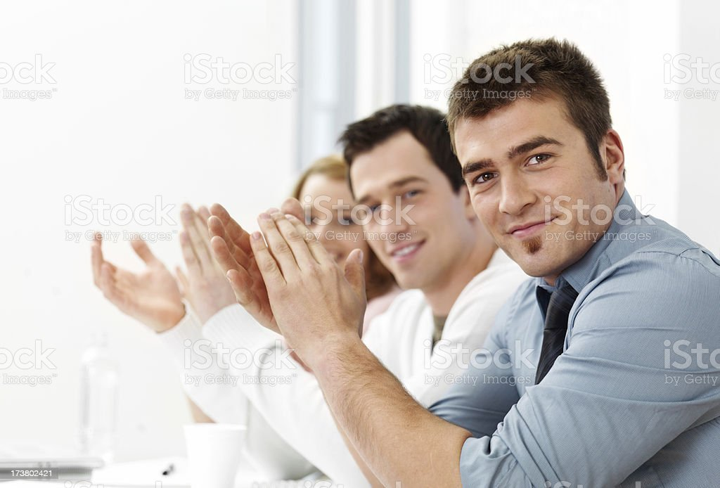 People applauding royalty-free stock photo
