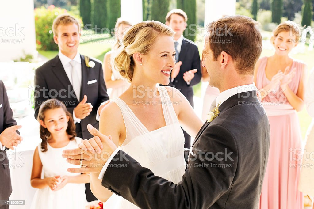 People Applauding While Looking At Couple Dancing royalty-free stock photo