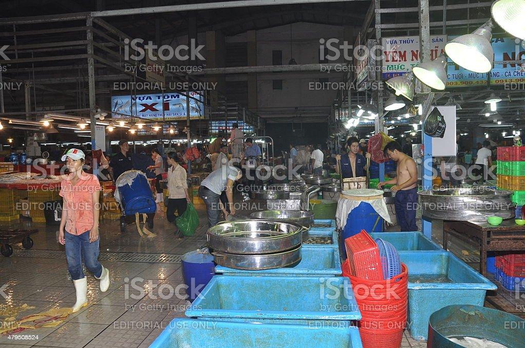Ho Chi Minh City, Vietnam - November 28, 2013: Plenty of fisheries in...