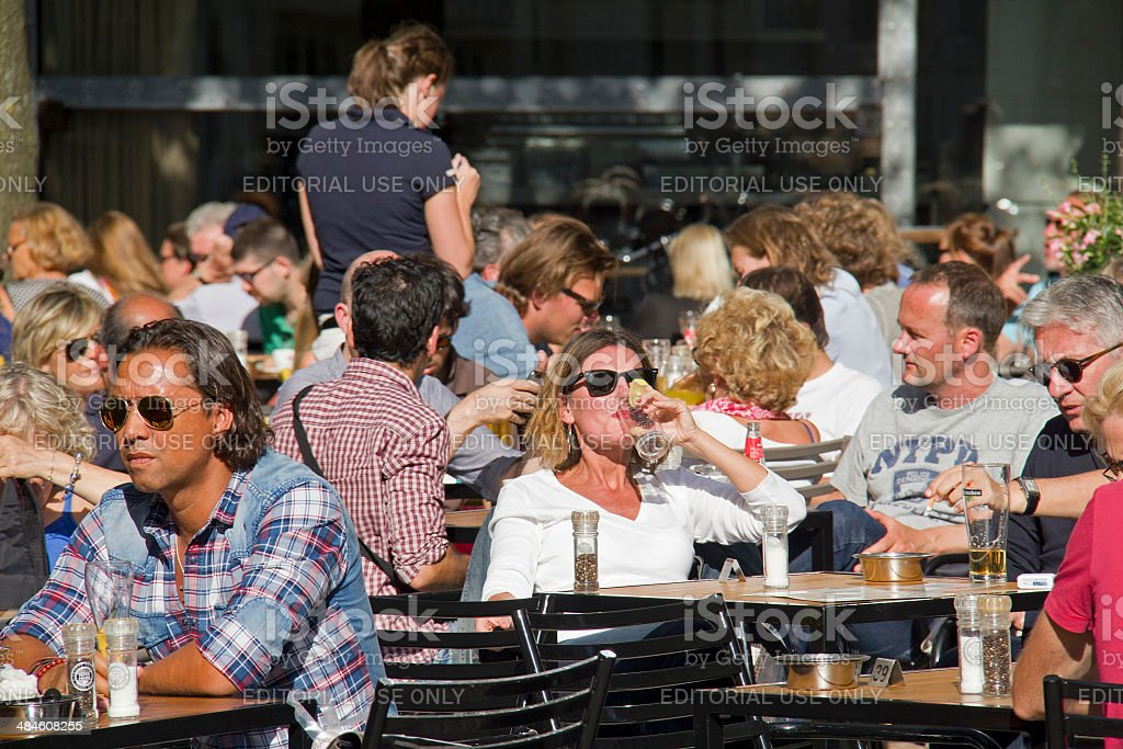 People at a Cafe stock photo