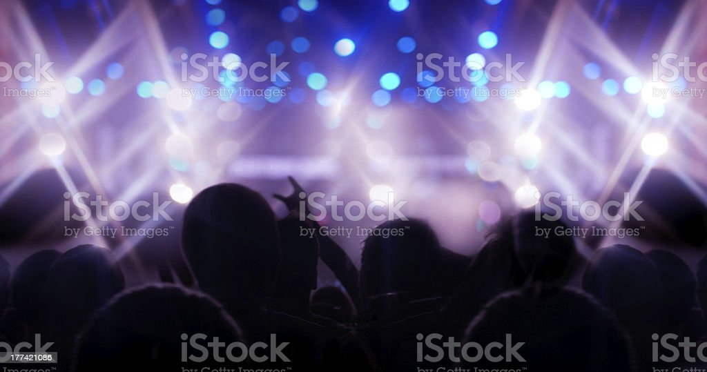 People at a concert royalty-free stock photo