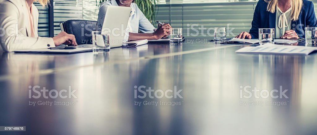 People at a meeting stock photo