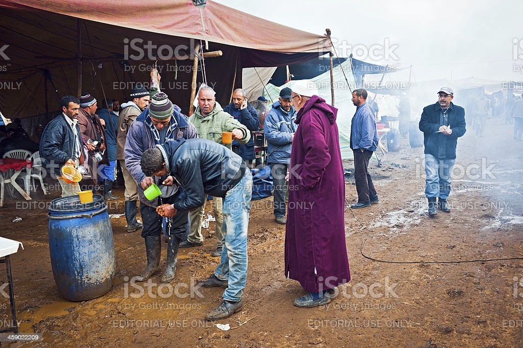 People at Azrou Food Market Morocco Africa royalty-free stock photo