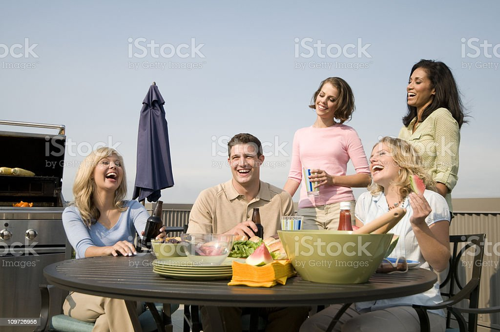 People at Barbecue royalty-free stock photo