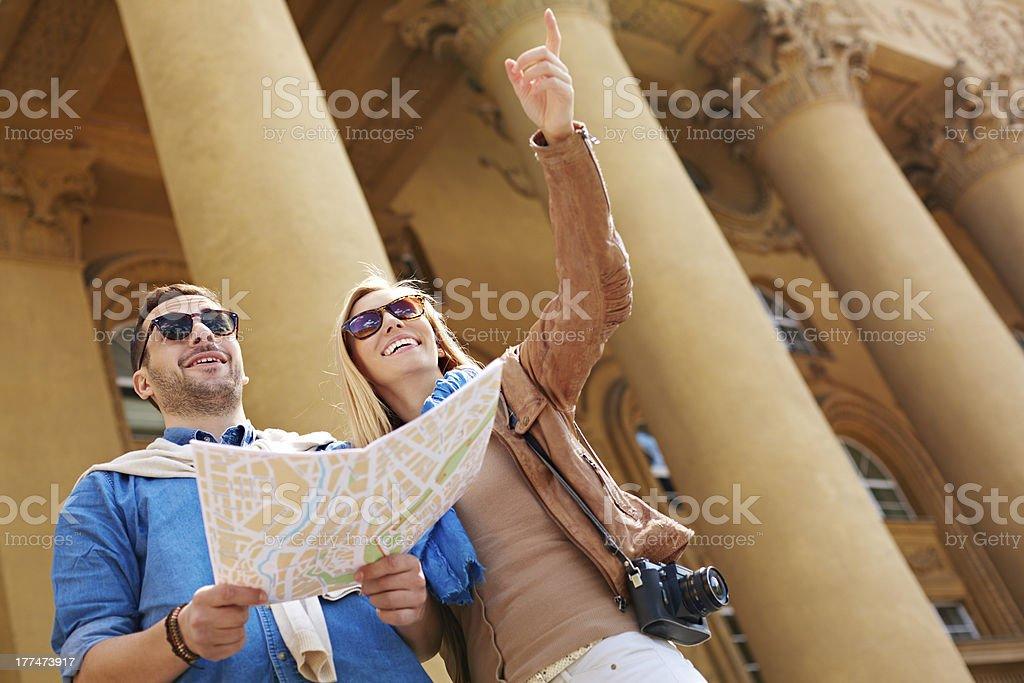 People at city break stock photo