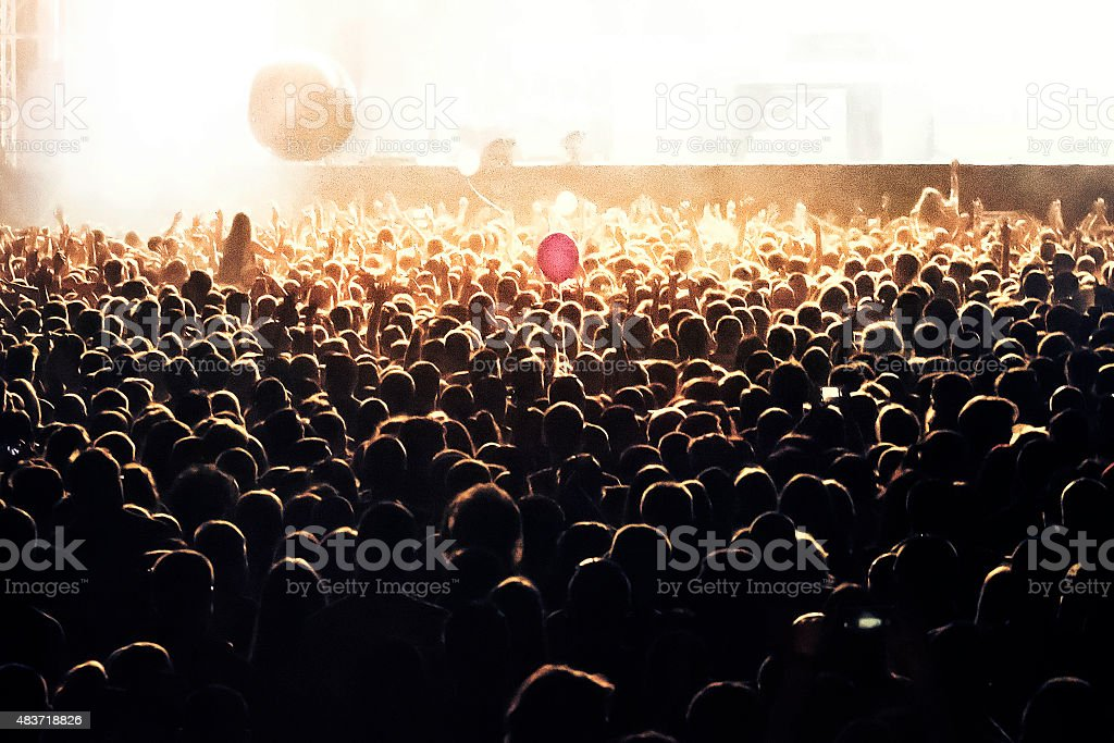 People at concert party stock photo