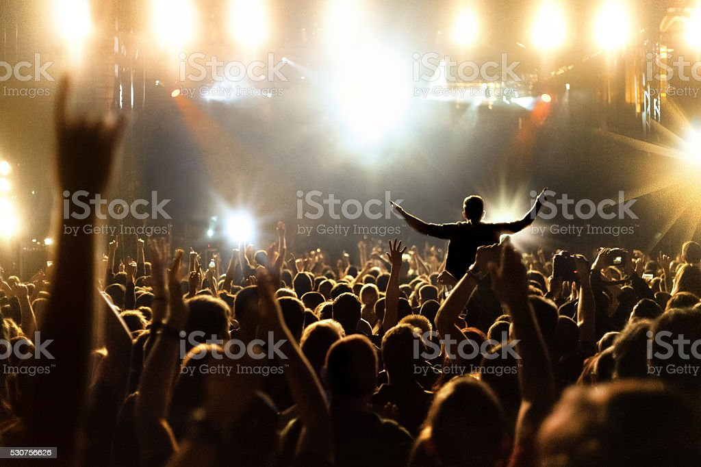 People at concert stock photo