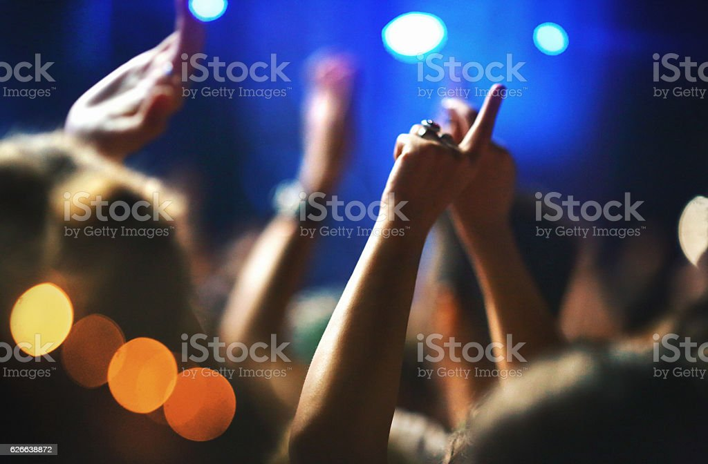 People at concert. stock photo