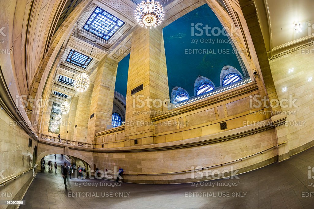 people at Grand Central Terminal, New York City stock photo