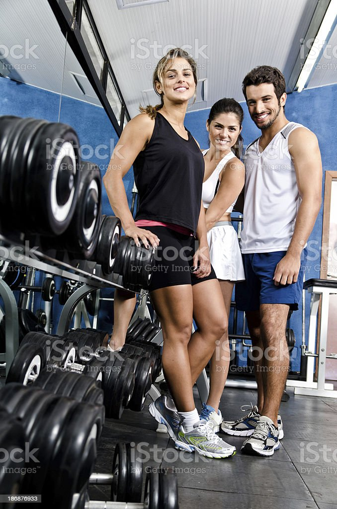 People at gym royalty-free stock photo