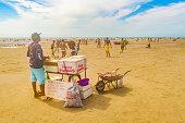 People at Jericoacoara Beach in Brazil