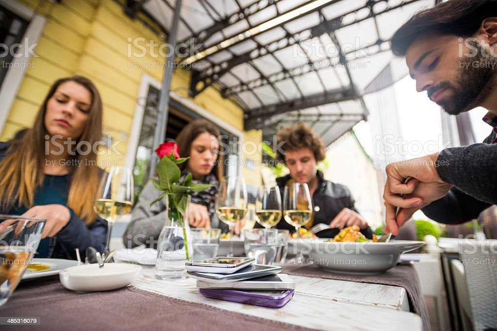 People at restaurant royalty-free stock photo