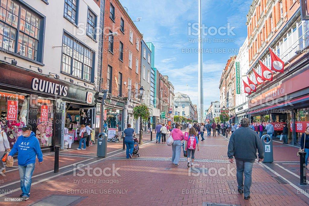 People at Talbot Street stock photo