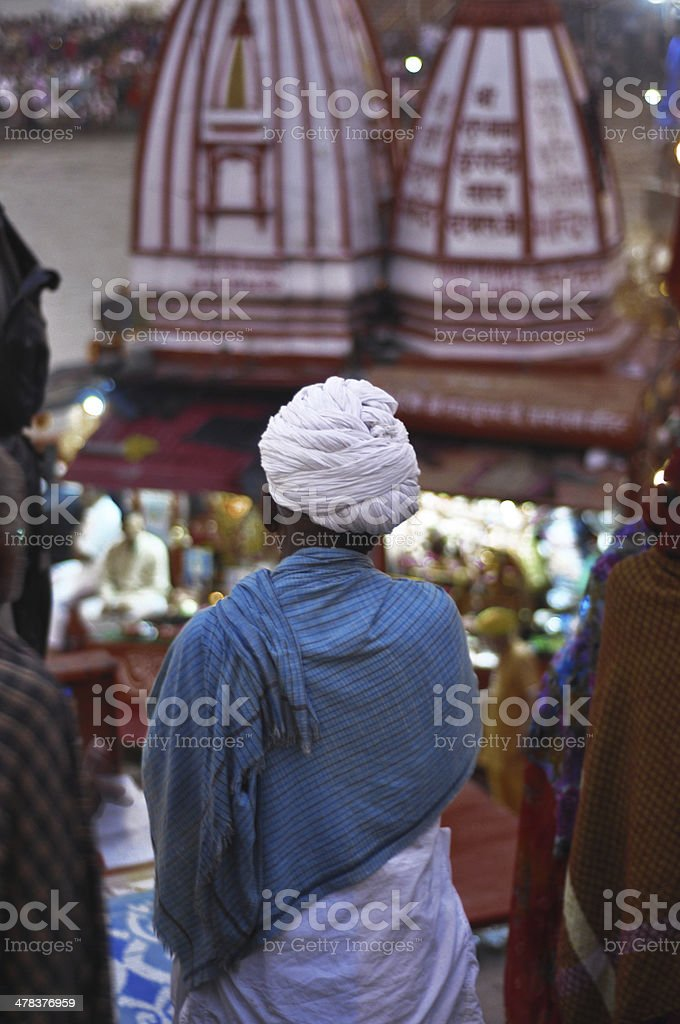 People at temple of Haridwar stock photo