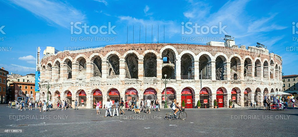 people at the arena of Verona stock photo