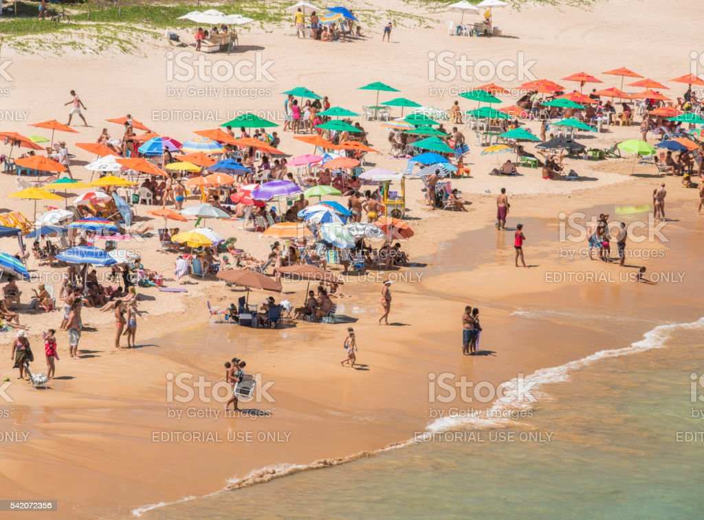 People at the Beach in Buzios stock photo