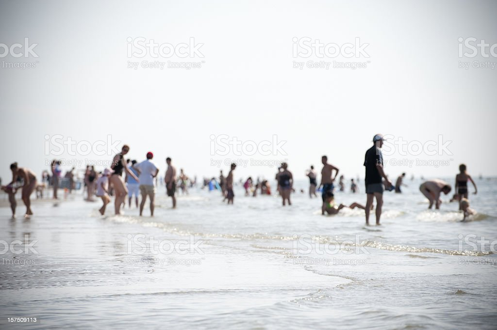 People at the Beach royalty-free stock photo