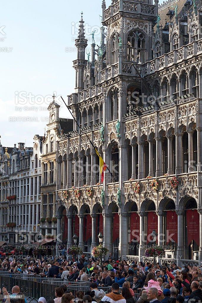 Persone in Belgio fiore Carpet Festival 2014 foto stock royalty-free