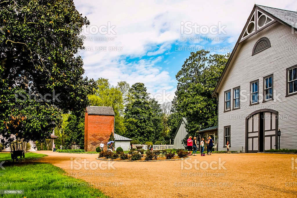 People at the Belle Meade Plantation in Nashville in Tennessee stock photo