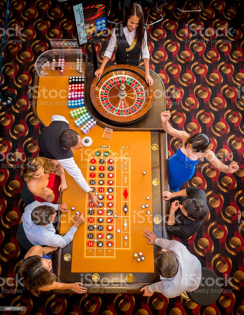 People at the Casino stock photo