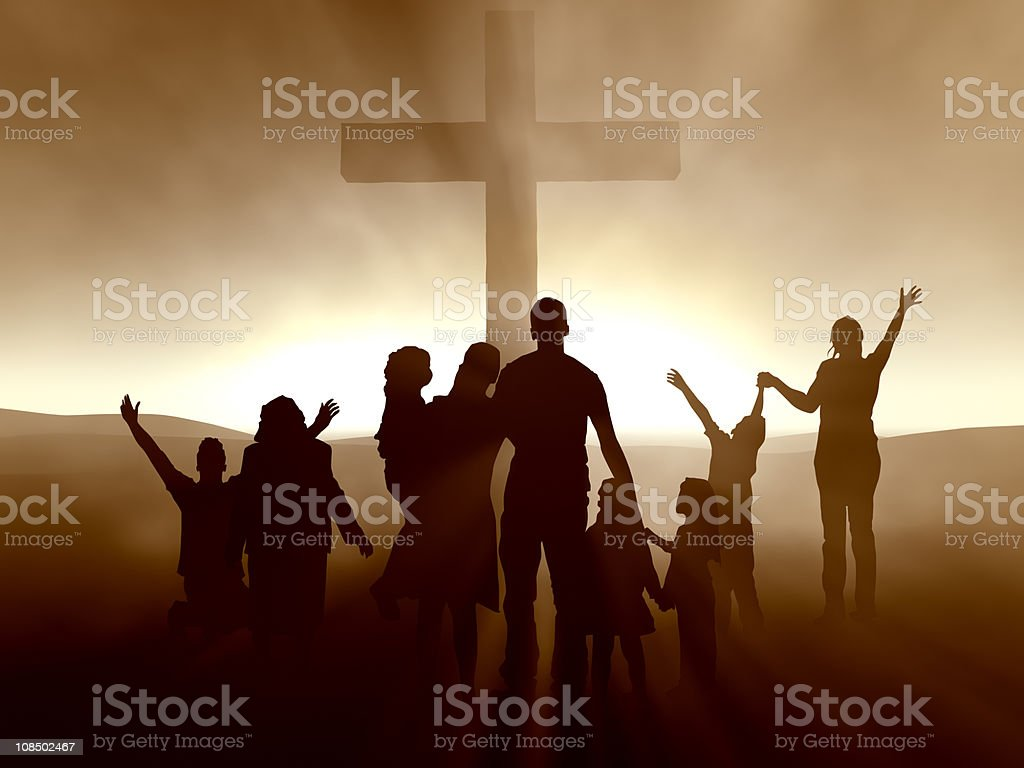 People at the Cross stock photo