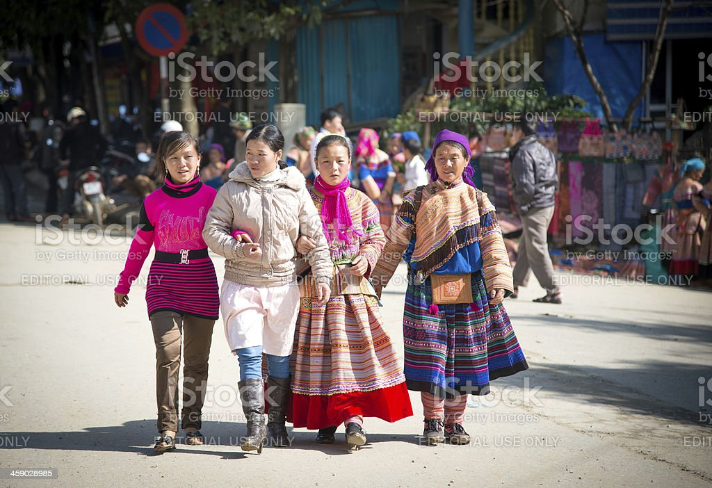 People at the market, Vietnam royalty-free stock photo