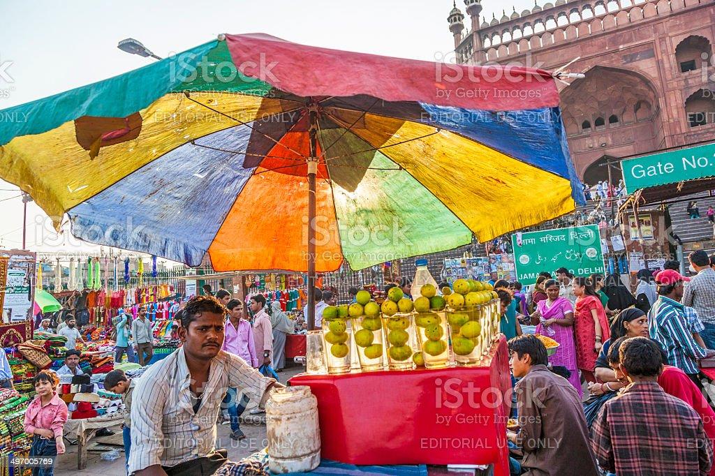 people at the Meena Bazaar stock photo