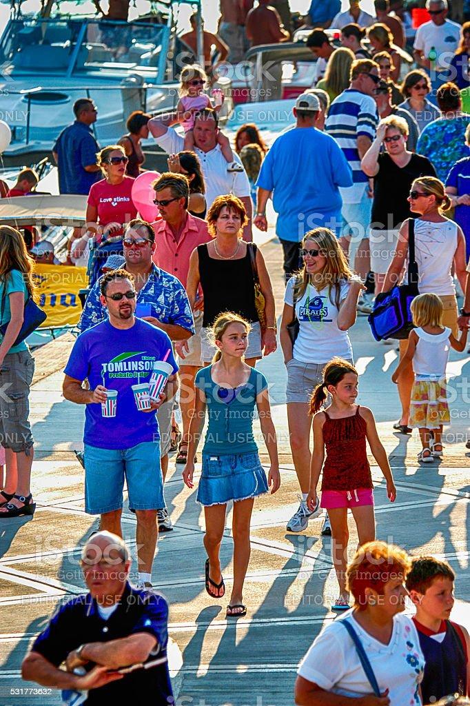 People at the Port Huron sailing Regatta, MI stock photo