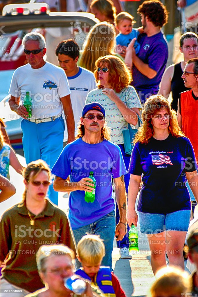 People at the Port Huron sailing Regatta, MI stock photo
