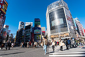 People at  the  Shibuya Crossing in Tokyo.