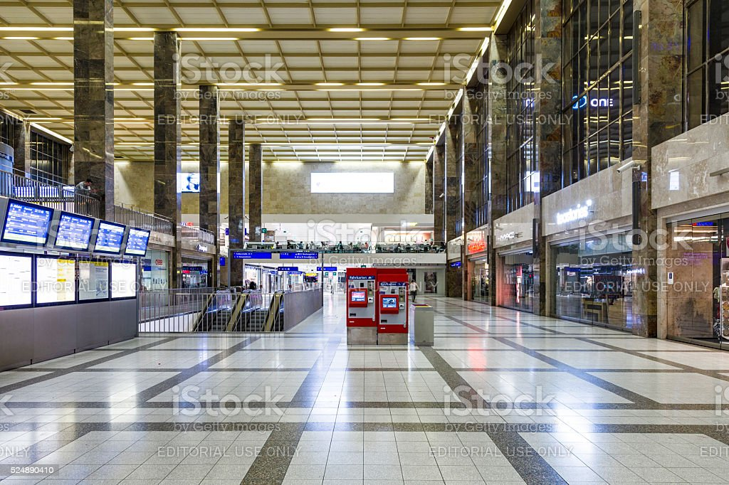 people  at the Westbahnhof station in Vienna stock photo
