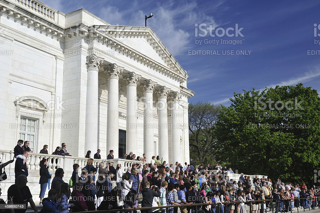 People at Tomb of the Unknown royalty-free stock photo