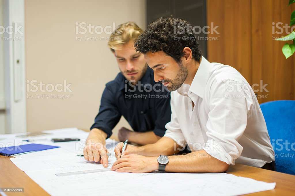 People at work in their office stock photo