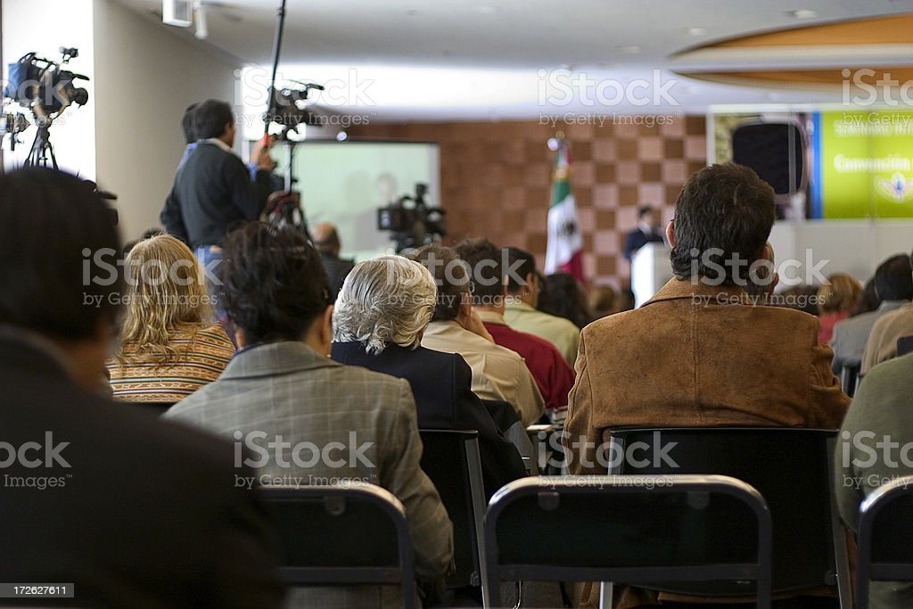 people attending convention royalty-free stock photo